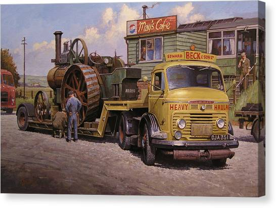 May's Transport Cafe. Canvas Print