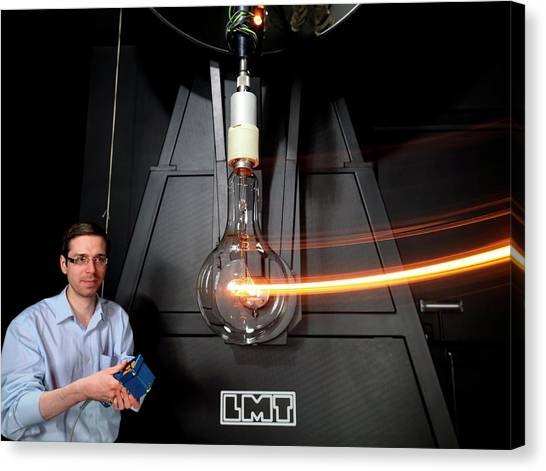 Reference Canvas Print - Measuring Light Intensity by Andrew Brookes, National Physical Laboratory/science Photo Library