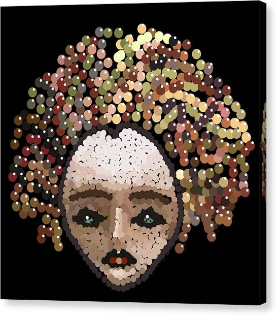 Medusa Bedazzled After Canvas Print