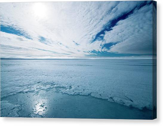Melting Arctic Sea Ice Canvas Print by Louise Murray/science Photo Library