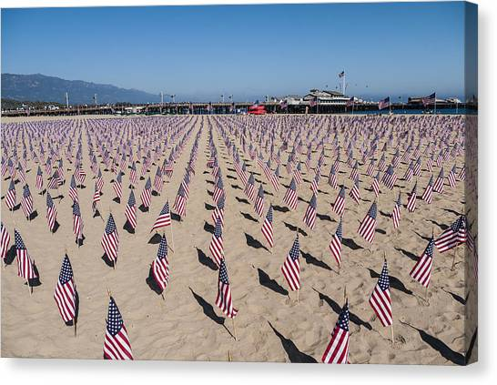Ucsb Canvas Print - Memorial For 911 Santa Barbara Ca 2010 by David Litschel