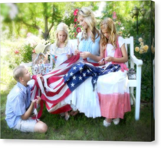 Mending Liberty Canvas Print
