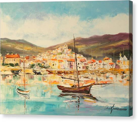 Mentone Harbour Canvas Print