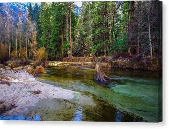 El Capitan Canvas Print - Merced River Yosemite National Park by Scott McGuire