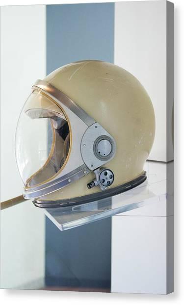 Space Suit Canvas Print - Mercury Spacesuit Helmet by Mark Williamson/science Photo Library