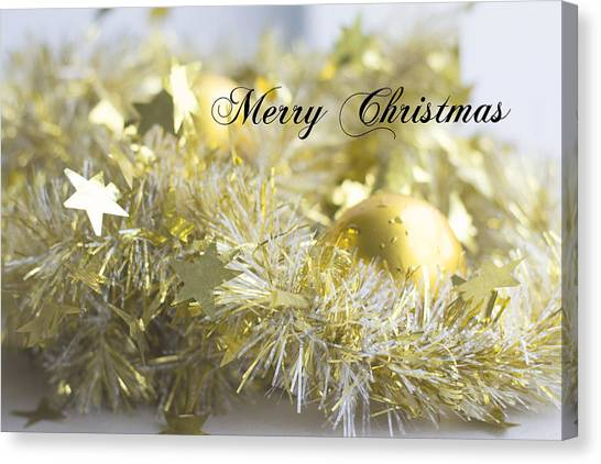 Canvas Print featuring the photograph Merry Christmas by Jocelyn Friis