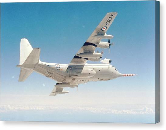 Met Office 'snoopy' Hercules Aircraft Canvas Print by British Crown Copyright, The Met Office / Science Photo Library