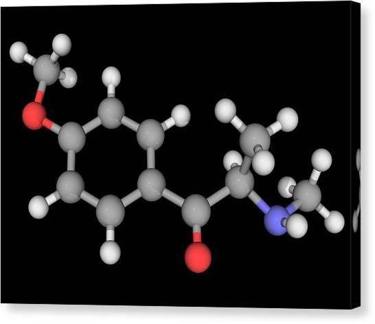 Methedrone Drug Molecule Canvas Print by Laguna Design/science Photo Library