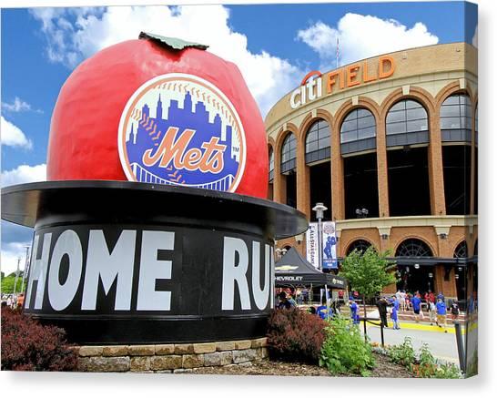 Mets Home Run Apple Canvas Print