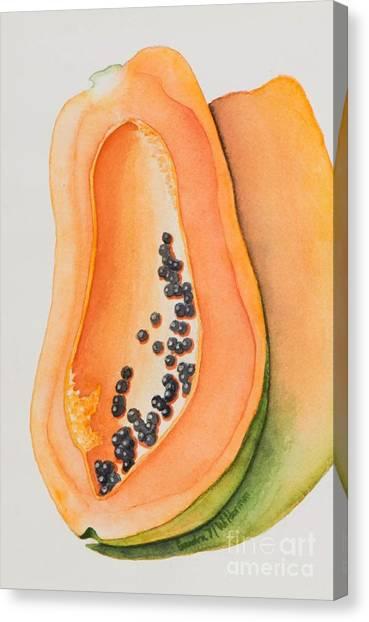 Mexican Papaya Canvas Print
