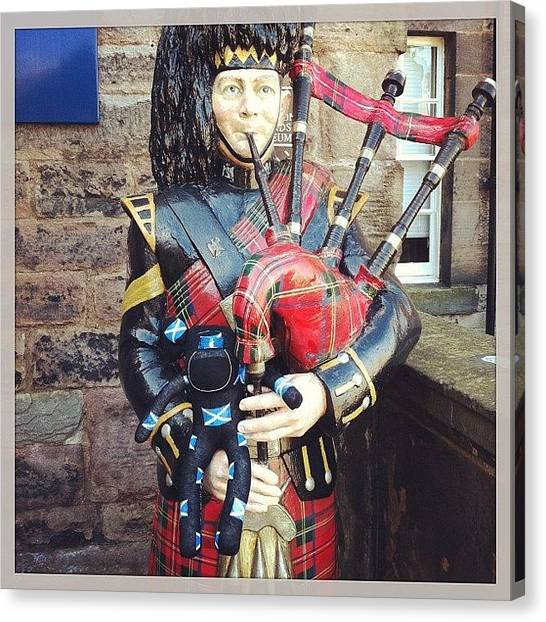 Bagpipes Canvas Print - @mgiarrusso #sockmonkey On Tour by Emma  Maudsley