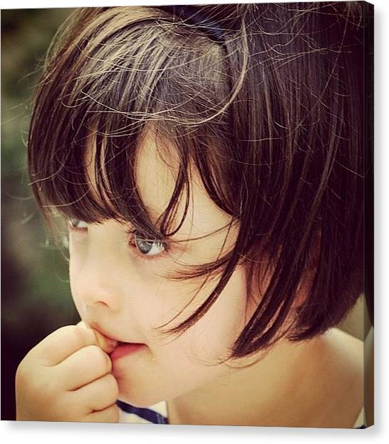 Kids Canvas Print - Mia by Luisa Azzolini