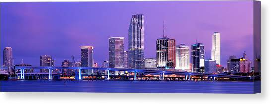 Biscayne Bay Canvas Print - Miami Fl by Panoramic Images