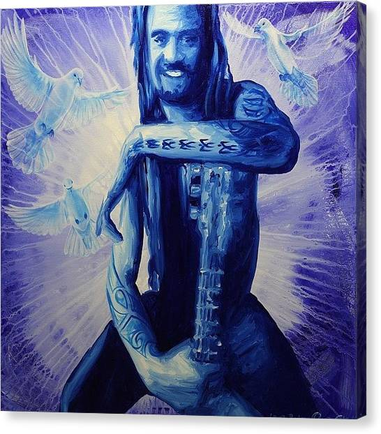 Dove Canvas Print - Michael Franti Painting For Sale by Ocean Clark