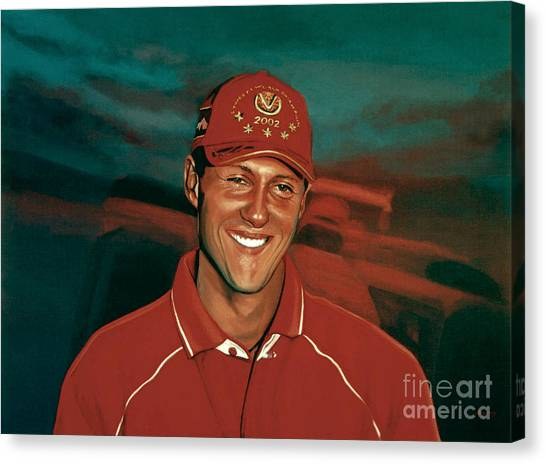 Formula 1 Canvas Print - Michael Schumacher by Paul Meijering