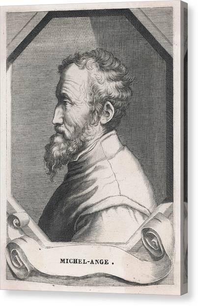 Michelangelo Simoni Canvas Print - Michelangelo Buonarotti Di Lodovico by Mary Evans Picture Library