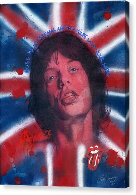 Mick Jagger Canvas Print by Luis  Navarro