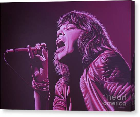 Rolling Stones Canvas Print - Mick Jagger 2 by Paul Meijering