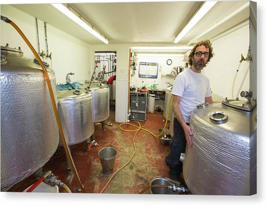 Local Food Canvas Print - Micro Brewery by Ashley Cooper