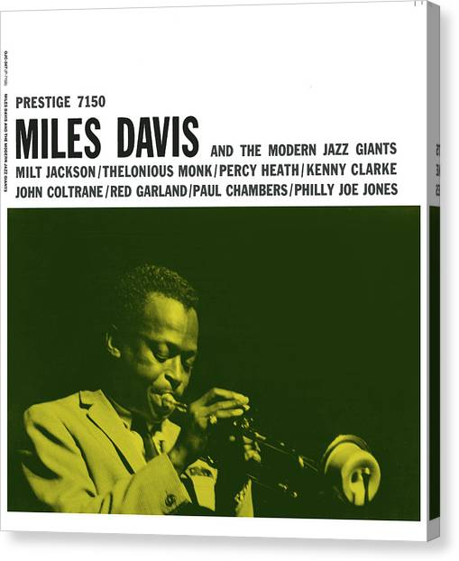 Trumpets Canvas Print - Miles Davis -  Miles Davis And The Modern Jazz Giants (prestige 7150) by Concord Music Group