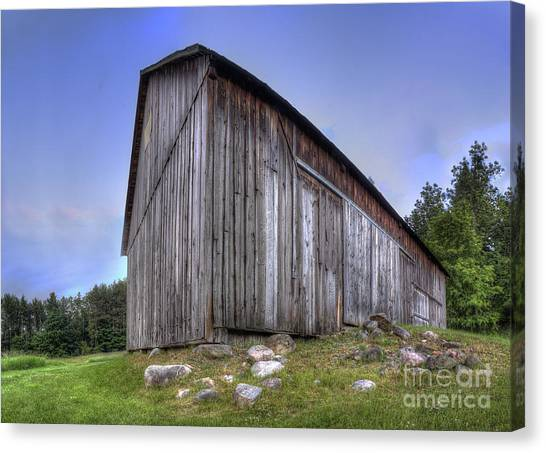 Oneida Canvas Print - Miller Barn At Port Oneida by Twenty Two North Photography