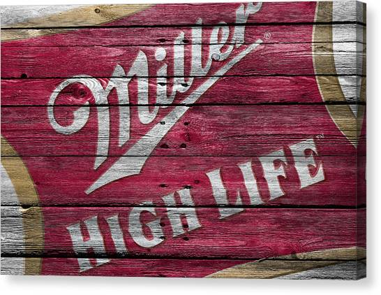 Beer Can Canvas Print - Miller High Life by Joe Hamilton