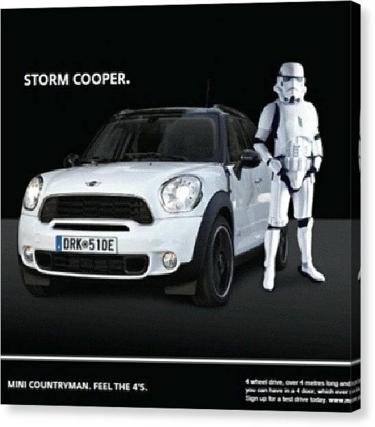 Stormtrooper Canvas Print - #minicooper #minilove #minifamily by Wyn Francis