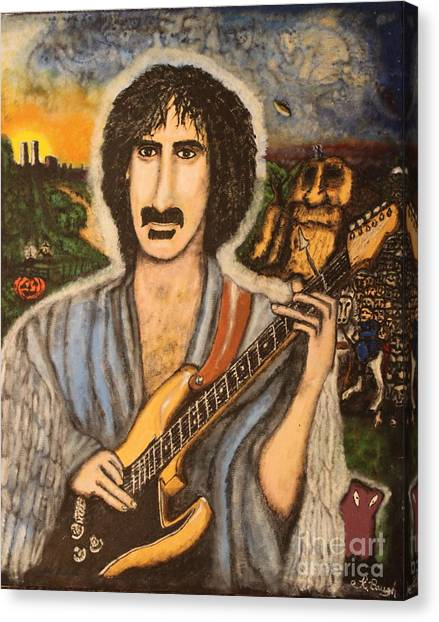 Frank Zappa Canvas Print - Minstrel By The Roadside by Keith Baugh