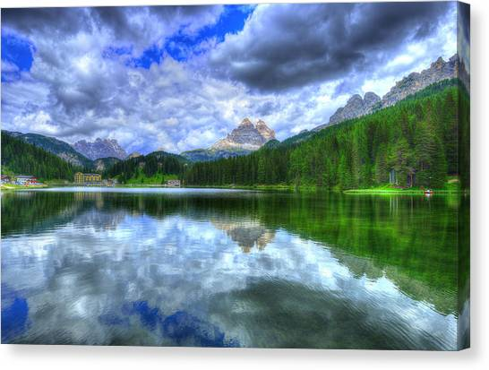 Dolomites Canvas Print - Mirror In The Sky by Midori Chan
