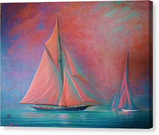 Misty Bay Canvas Print