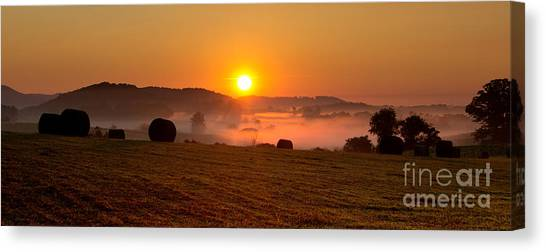 Misty Ridge Canvas Print
