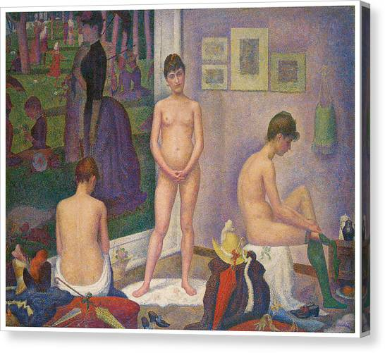 Models Canvas Print by Georges Seurat