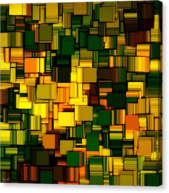 Spinach Canvas Print - Modern Abstract Xxi by Lourry Legarde