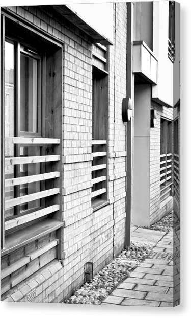 Bachelor Canvas Print - Modern Apartment Windows by Tom Gowanlock