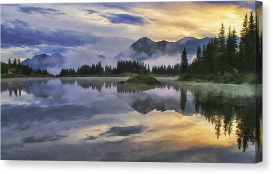 Molas Lake Sunrise Canvas Print