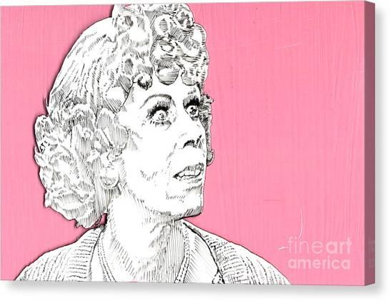 Improve Canvas Print - Momma On Pink by Jason Tricktop Matthews