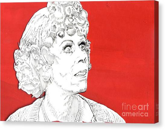 Improve Canvas Print - Momma On Red by Jason Tricktop Matthews