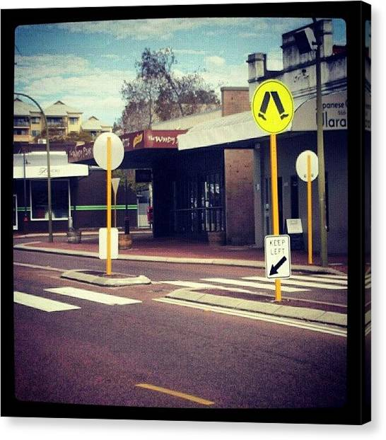 Triangles Canvas Print - #mondays #boringbusstops #architecture by Ragenangel -s