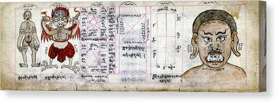 Tantra Canvas Print - Mongolian Astrology by National Library Of Medicine