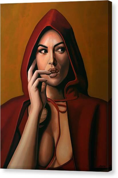 Tear Canvas Print - Monica Bellucci by Paul Meijering