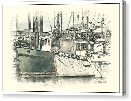 Moored Fishing Boats Canvas Print