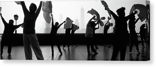 Bund Canvas Print - Morning Exercise, The Bund, Shanghai by Panoramic Images