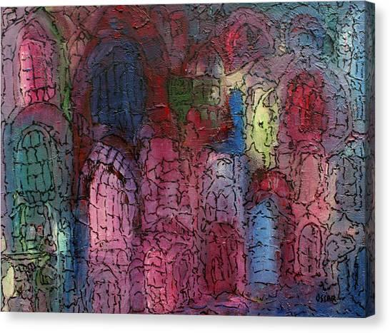Mosaic Town Canvas Print