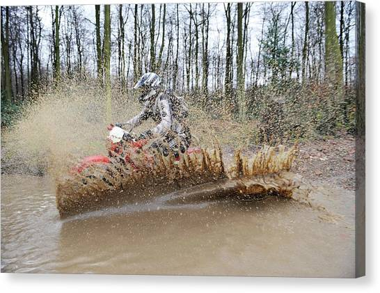 Motocross Canvas Print - Motocross Biking by Dr P. Marazzi/science Photo Library
