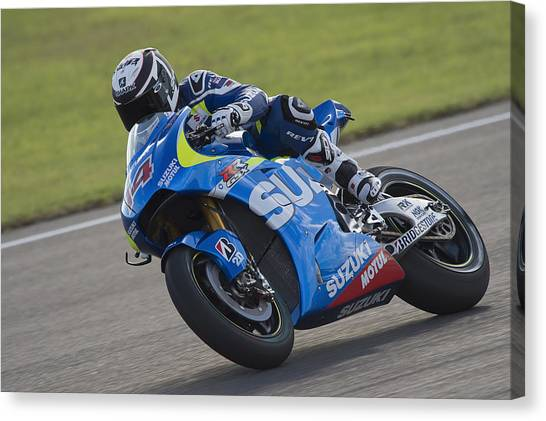 Motogp Of Valencia - Free Practice Canvas Print by Mirco Lazzari gp