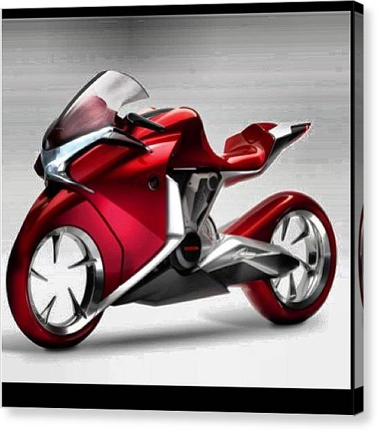 Biker Canvas Print - #motorcycle #motorcycles #bike by Robert Zarzuela