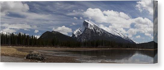 Mount Rundle And Vermilion Lake Canvas Print