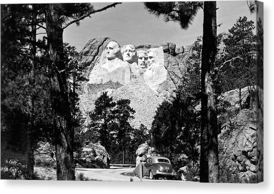 Mt. Massive Canvas Print - Mount Rushmore In South Dakota by Underwood Archives