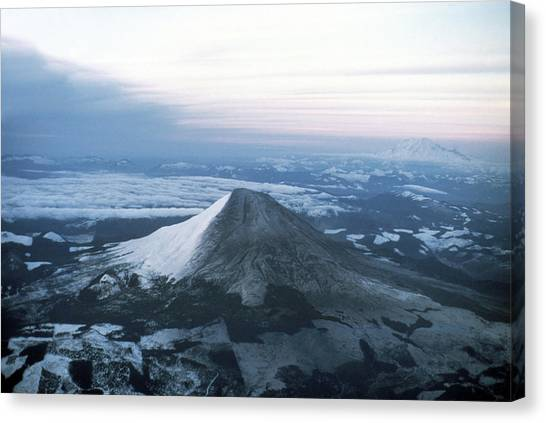 Mount St. Helens Canvas Print - Mount St Helens by Us Geological Survey/science Photo Library