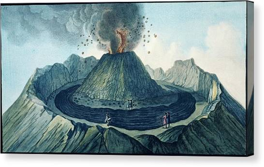 Mount Vesuvius Canvas Print - Mount Vesuvius by Natural History Museum, London/science Photo Library